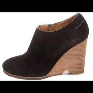 Chloe suede wedge boots shoes